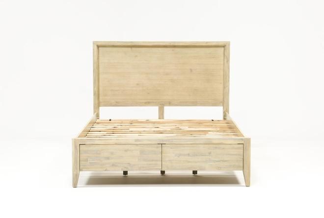 Allen Queen Panel Bed With Storage - 360