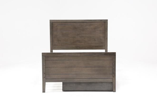 Owen Grey Full Panel Bed W/Trundle Storage - 360