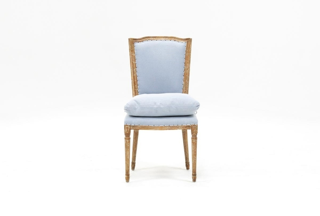 Dining Chair W/Blue Loose Seat - 360