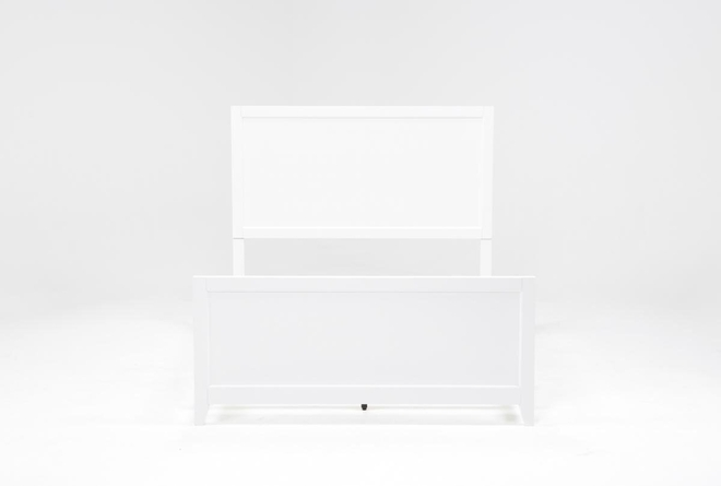 Bayside White Eastern King Panel Bed - 360