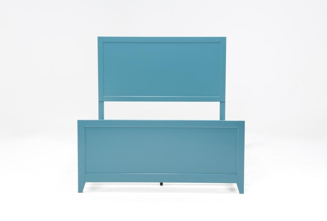 Bayside Blue California King Panel Bed - 360