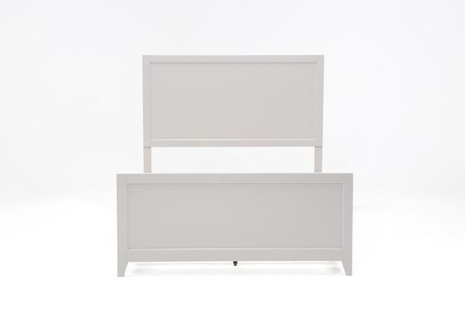 Bayside Grey Eastern King Panel Bed - 360