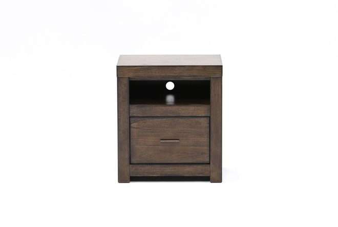 Riley Brownstone 1-Drawer Nightstand - 360