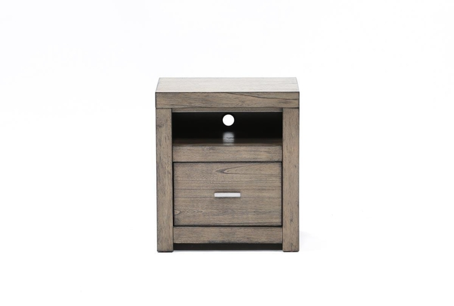 Riley Greystone 1-Drawer Nightstand - 360