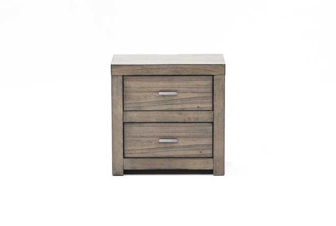 "Riley Greystone 2-Drawer 25"" Nightstand - 360"