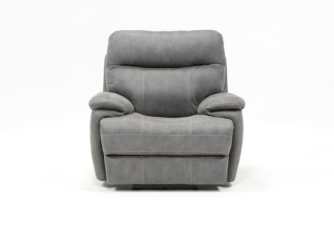 Denali Light Grey Power Recliner W/Power Headrest - 360