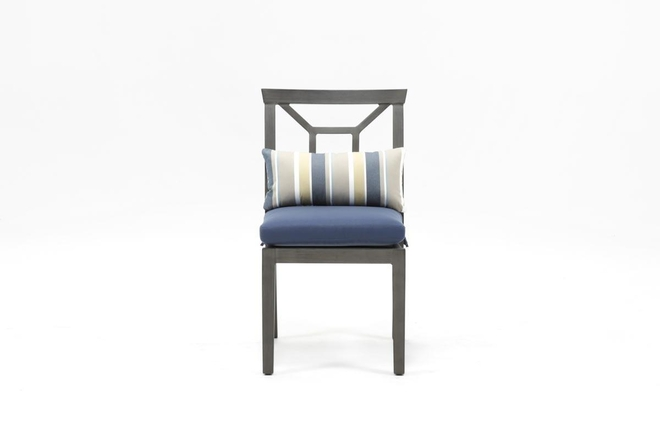 Martinique Navy Outdoor Dining Chair - 360