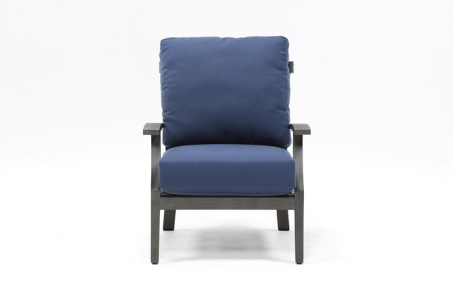 Martinique Navy Outdoor Lounge Chair - 360