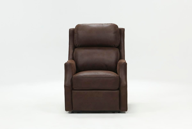 Chase Chocolate Power Recliner W/Power Headrest & Usb - 360