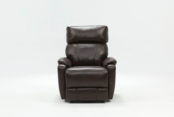 Connie Espresso Power Recliner With Power Headrest & Usb - 360