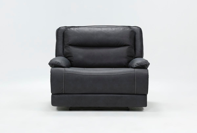 Garland Charcoal Cuddler Power Recliner With Power Headrest - 360