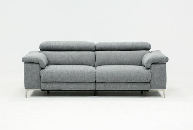 "Talin Grey 85"" Power Reclining Sofa W/Usb - 360"