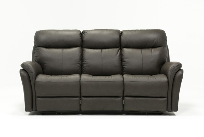 Bowie Leather Power Reclining Sofa With Power Headrest - 360