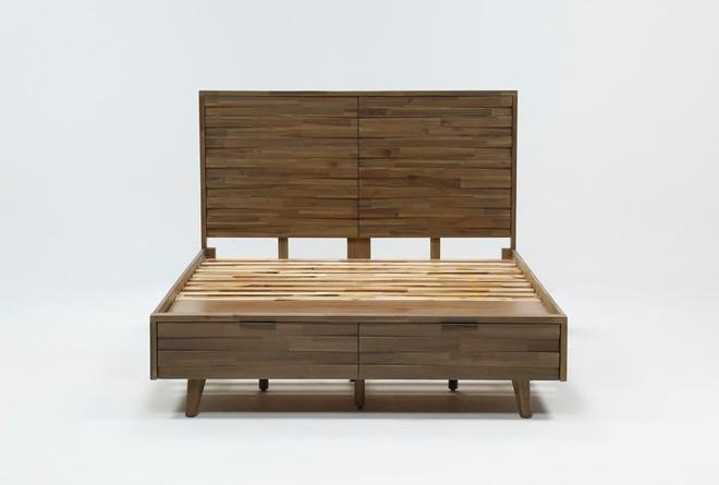 Caleb Queen Platform Bed With Storage - 360