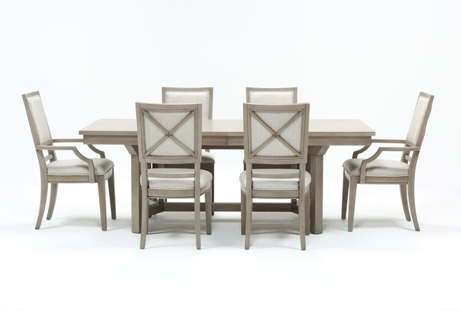 Camilla 7 Piece Rectangle Extension Dining Table - 360