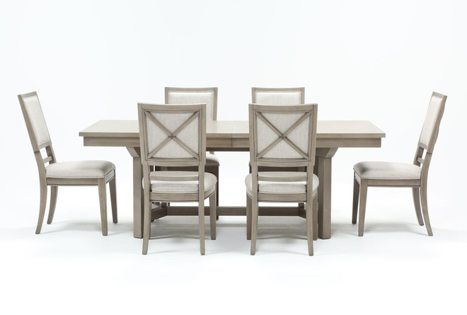 Camilla 7 Piece Rectangle Extension Dining Table With Side Chairs - 360