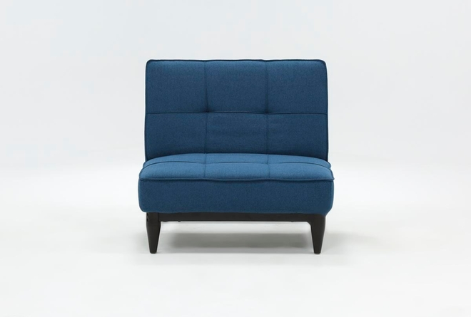Paige Blue Convertible Chair - 360