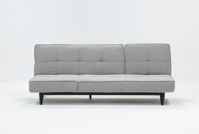 Paige Grey Convertible Sofa Chaise Sleeper - 360