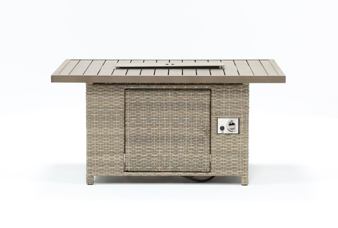 Malta Outdoor Banquette Firepit Dining Table - 360