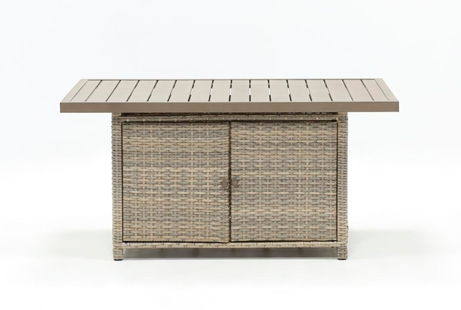 Malta Outdoor Banquette Storage Dining Table - 360
