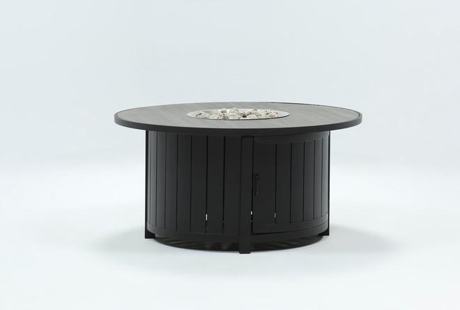 Wood Grain Outdoor Round Firepit - 360