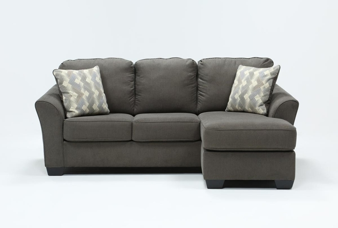 "Tucker 89"" Sofa With Reversible Chaise - 360"