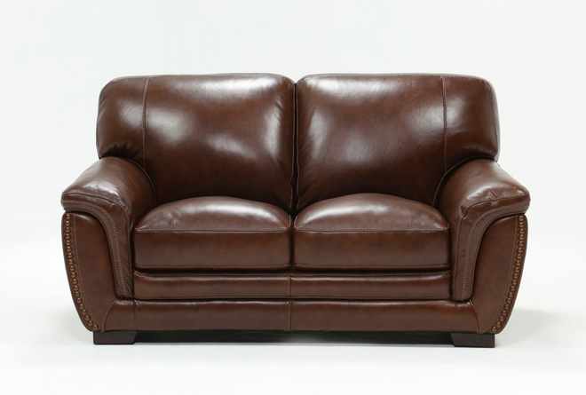 "Cassidy Leather 68"" Loveseat - 360"
