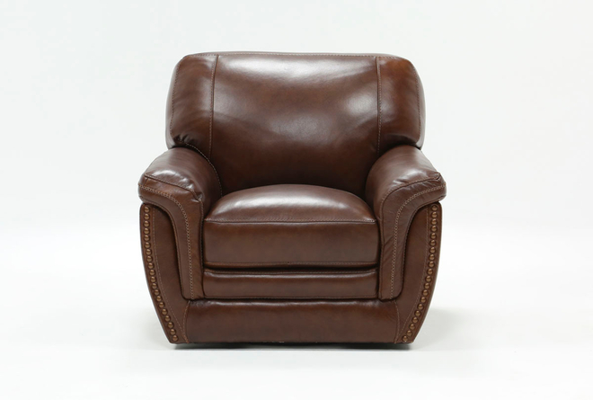 Cassidy Leather Swivel Chair - 360
