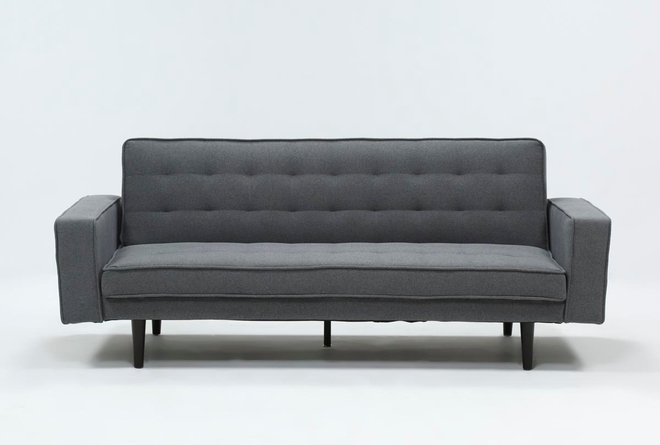 Petula Slate Convertible Sofa Bed - 360