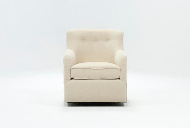 Katrina Beige Swivel Glider Chair - 360