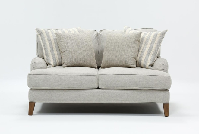 Abigail II Light Blue Loveseat - 360