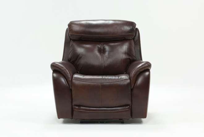 Shane Leather Power Recliner With Power Headrest - 360