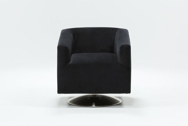 Loft Dark Grey Swivel Accent Chair - 360
