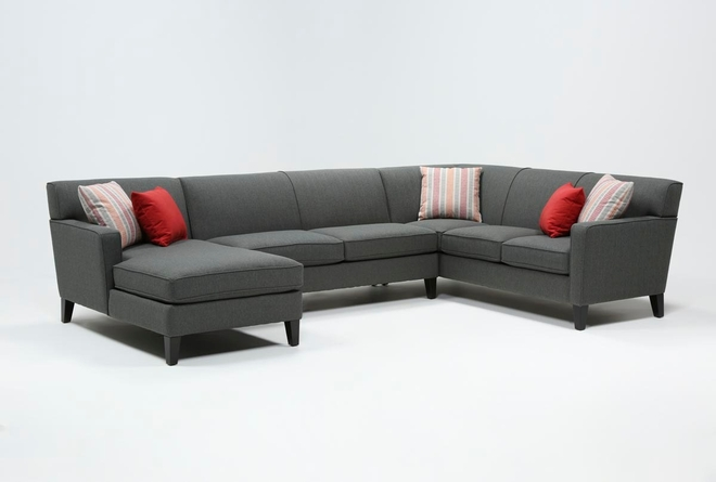 Dexter II Orange 3 Piece Sectional - 360