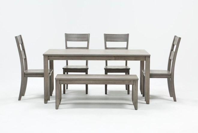 Matias Grey 6 Piece Dining Set - 360