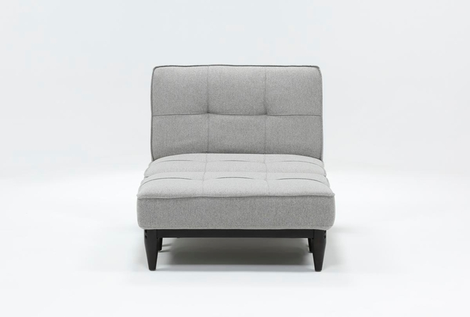 Paige Grey Convertible Chair And Ottoman - 360