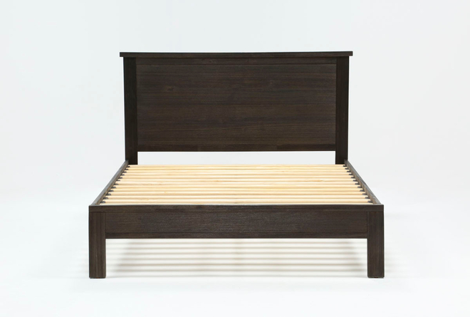 Larkin Espresso Eastern King Panel Bed With Storage - 360