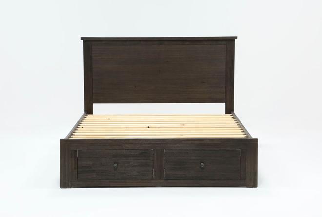 Larkin Espresso Full Panel Bed With Storage - 360