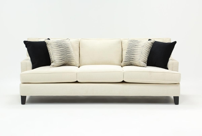 "Madalyn 91"" Light Grey Sofa - 360"