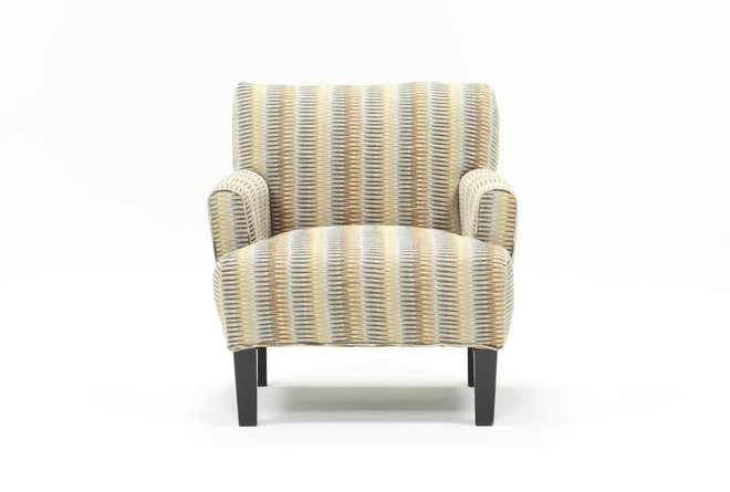 Elijah Red Striped Accent Chair - 360