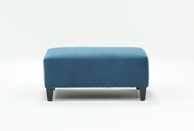 Perch Fabric Small Rectangle Ottoman - 360