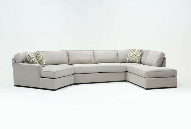 "Aspen Sterling Foam 3 Piece 163"" Sectional With Right Arm Facing Armless Chaise - 360"