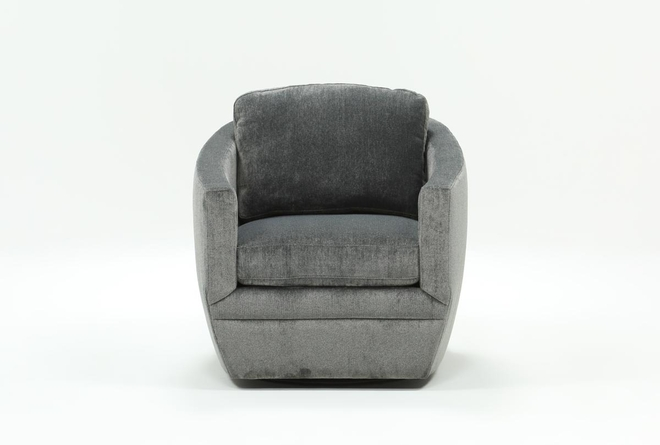 Chadwick Charcoal Swivel Accent Chair - 360