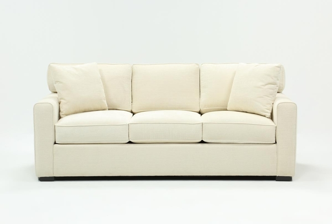 "Cypress II 83"" Light Blue Sofa - 360"