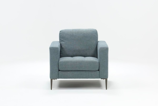 Aaron Steel Blue Chair - 360