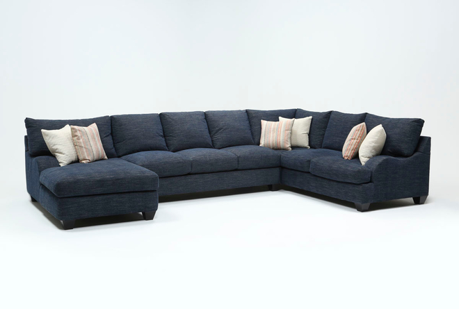 """Sierra Down III 3 Piece 157"""" Sectional With Left Arm Facing Chaise - 360"""