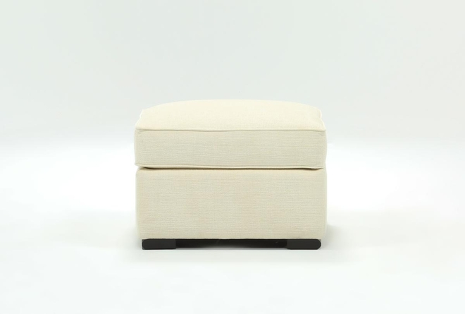 Cypress II Orange Ottoman - 360
