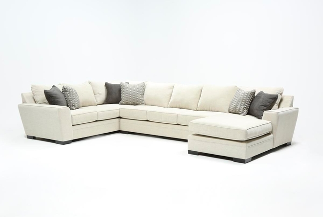 "Delano Pearl 3 Piece 169"" Sectional With Right Arm Facing Chaise - 360"