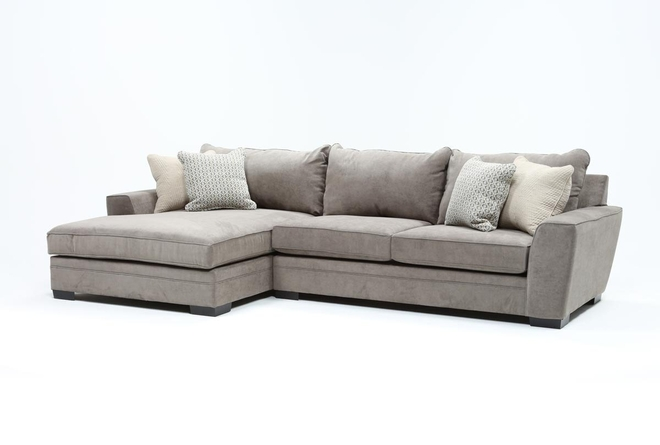 Delano Charcoal 2 Piece Sectional With Left Arm Facing Chaise - 360