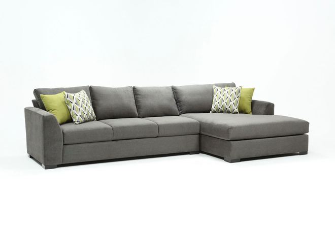 Cohen Foam II 2 Piece Sectional With Right Arm Facing Oversized Chaise - 360
